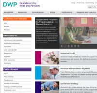 dwp.gov.uk screenshot