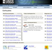 earthquake.usgs.gov screenshot