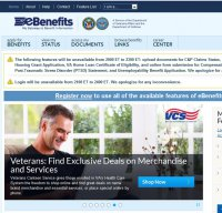 ebenefits.va.gov screenshot