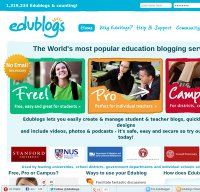 edublogs.org screenshot