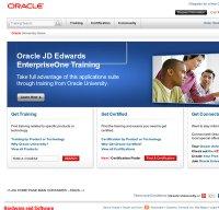 education.oracle.com screenshot