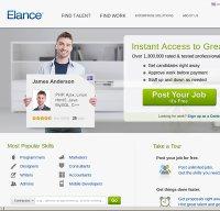 elance.com screenshot