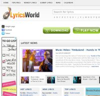 elyricsworld.com screenshot