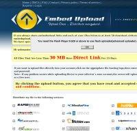 embedupload.com screenshot