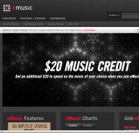 emusic.com screenshot