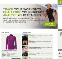 endomondo.com screenshot