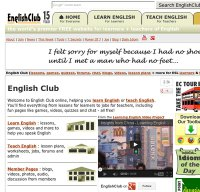 englishclub.com screenshot