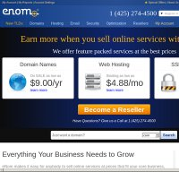 enom.com screenshot