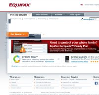 equifax.com screenshot
