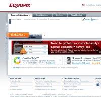 equifax.com screenshot