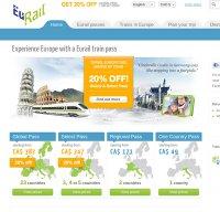 eurail.com screenshot