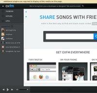 ex.fm screenshot