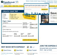 expedia.co.uk screenshot