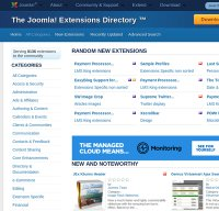 extensions.joomla.org screenshot