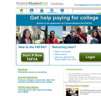 fafsa.ed.gov screenshot