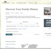 familysearch.org screenshot