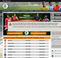 fantasyfootball.telegraph.co.uk screenshot