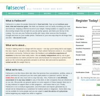 fatsecret.com screenshot