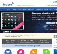 fedoraproject.org screenshot