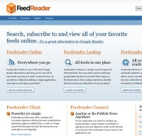 feedreader.com screenshot