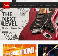 fender.com screenshot