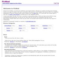 ficwad.com screenshot