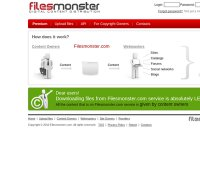 filesmonster.com screenshot