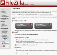 filezilla-project.org screenshot