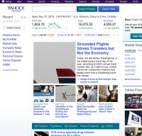 finance.yahoo.com screenshot