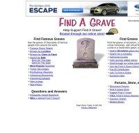 findagrave.com screenshot