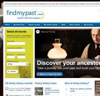 findmypast.co.uk screenshot