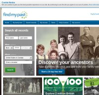 findmypast.com screenshot