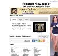 forbiddenknowledgetv.com screenshot