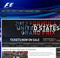 formula1.com screenshot