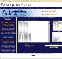 freeplaymusic.com screenshot