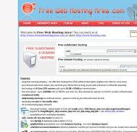 freewebhostingarea.com screenshot