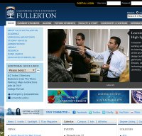 fullerton.edu screenshot