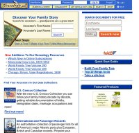 genealogy.com screenshot