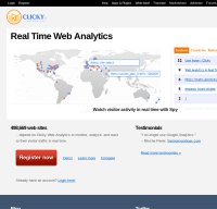 getclicky.com screenshot