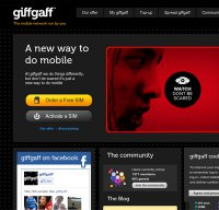 giffgaff.com screenshot