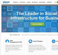 gigya.com screenshot