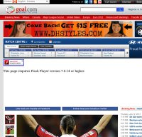 goal.com screenshot
