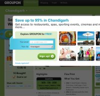 groupon.co.in screenshot