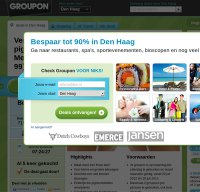 groupon.nl screenshot