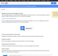 groups.google.com screenshot