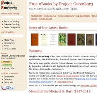 gutenberg.org screenshot