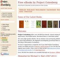 gutenberg.org screenshot