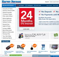 harveynorman.com.au screenshot