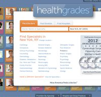 healthgrades.com screenshot