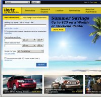 hertz.com screenshot